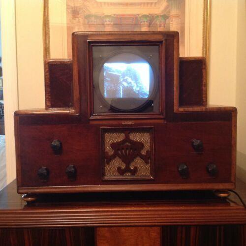 "Vintage Retro Early Prewar Television Set Reproduction Circa 1930 7"" B&W Screen"