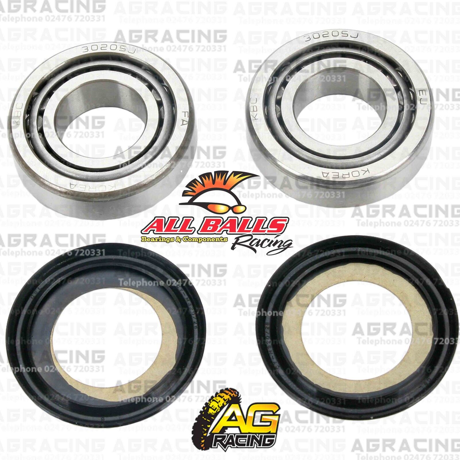 All Balls Steering Headstock Stem Bearing Kit For Yamaha YZ 250 1996 Motocross
