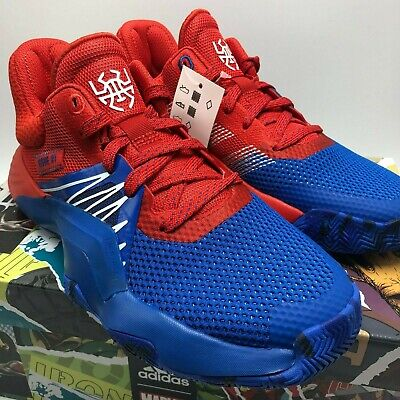 *NEW* KIDS ADIDAS D.O.N ISSUE #1 SPIDERMAN RED (EF2932), Sz 3.5-7, 100%AUTHENTIC (Scarlet Kids Shoes)