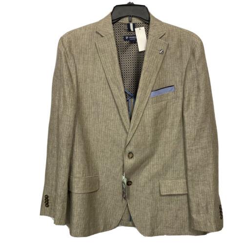 $250 CREMIEUX Sonoran Trails Linen Blazer Sport Coat Jacket XL Khaki Tan Clothing, Shoes & Accessories