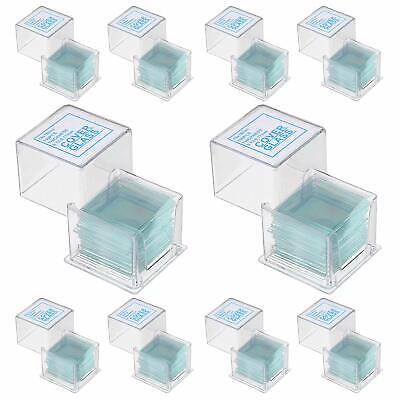 1000 Pack Of 18x18mm Cover Glass Slips For Microscope Slides .13 To .17mm Th...