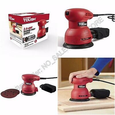 Orbital Palm Electric Sander 2.4Amp Includes Dust Bag, Sheets Hyper Tough NEW