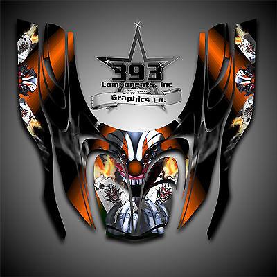 Arctic Cat ZR 600, 500, 800 Mountain Cat 00-06 Graphics Wrap Evil Joker Orange