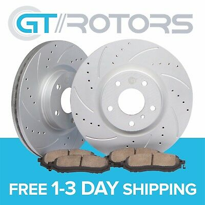 Drilled Slotted Front Brake Disc Rotors & Ceramic Pads for Toyota Corolla Matrix