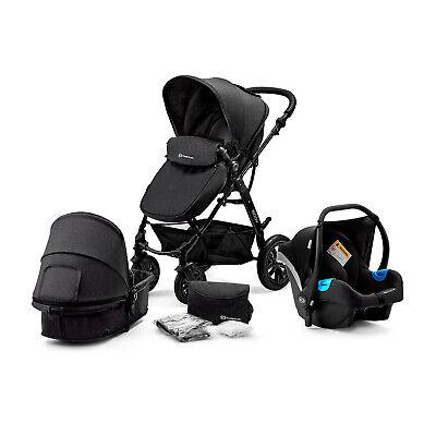 Kinderkraft Pram 3in1 Set MOOV Travel System Baby Pushchair Buggy Foldable Black