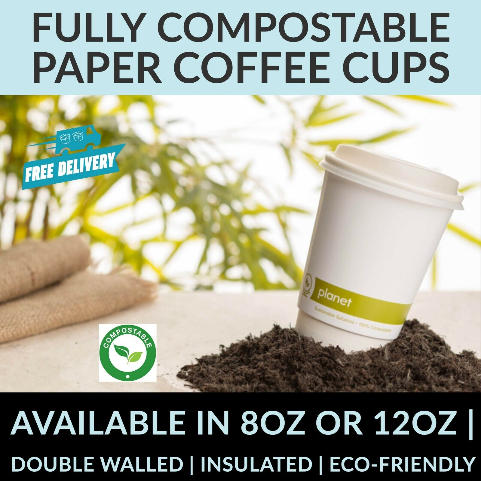 BIODEGRADABLE Paper CUPS Compostable