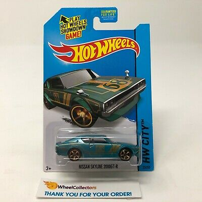 Nissan Skyline 2000GT-R #23 * TEAL * 2014 Hot Wheels * JC20