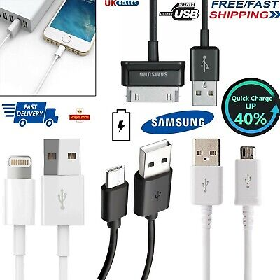 Micro USB 3.1 - Type C - Lightning Sync Charging Cable for iPhone Samsung Tablet