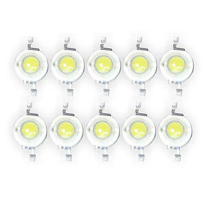 50-Pcs-3W-White-High-Power-Led-Lamp-Bead-200-230-Lm-45mil-6000k-6500K