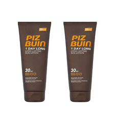 Piz Buin 1 Day Long Lasting Sunscreen Lotion SPF 30 High 200ml Pack of 2