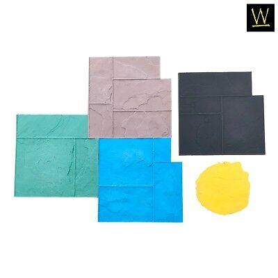 Ashler Notched Slate Concrete Stamp Set By Walttools Series 2 - 5 Pc