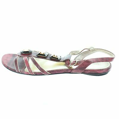 VERSACE Red And Brown Sandals, UK 5 US 7 EU 37