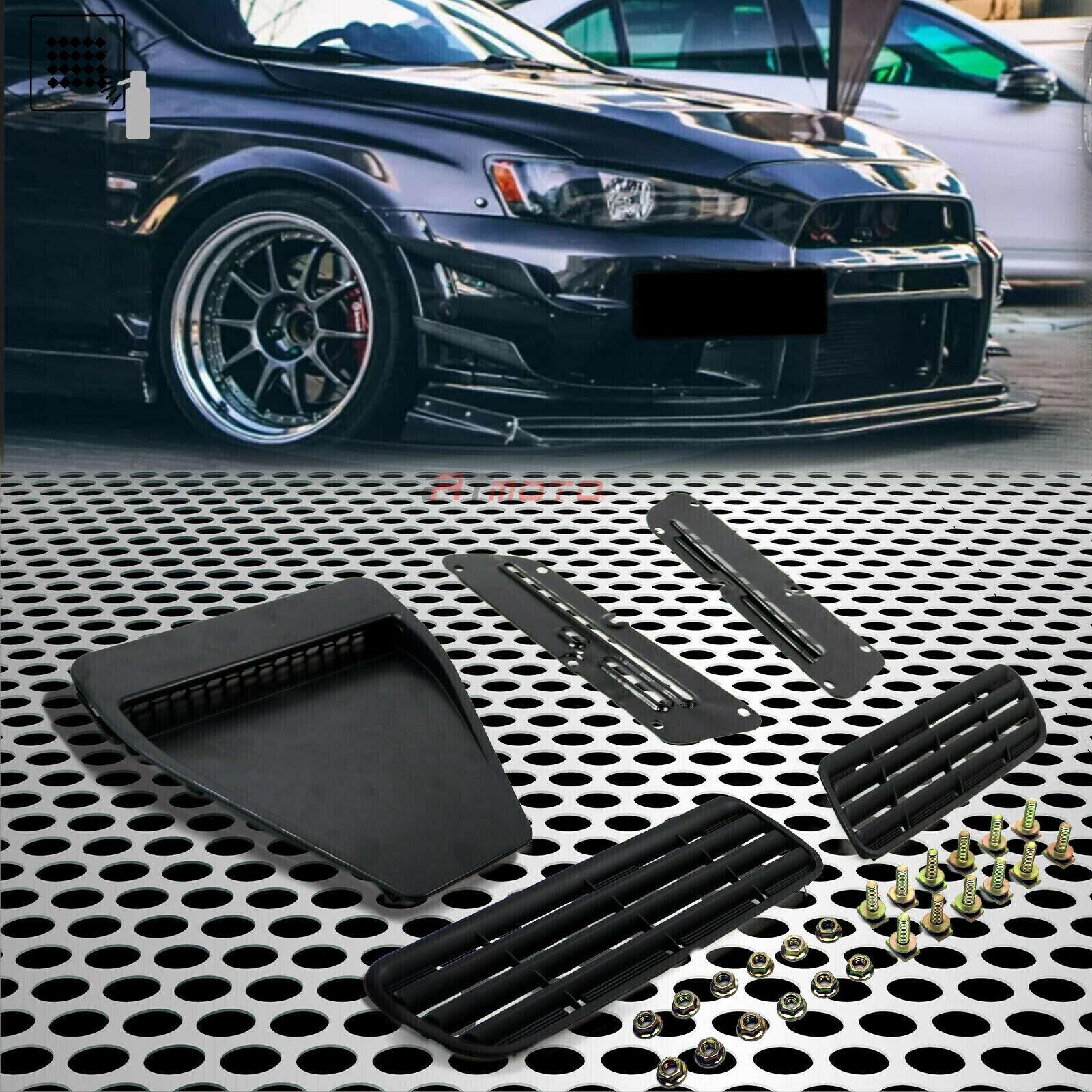 Car Parts - Fit for 08+Lancer EVO X/Ralliart /GTS Car Hood Bonnet Vent Duct Flat Matte Black