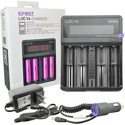 EFEST V4 LUC UNIVERSAL LCD CHARGER For 18650 1850014500 18350 16340 10440 3.7v