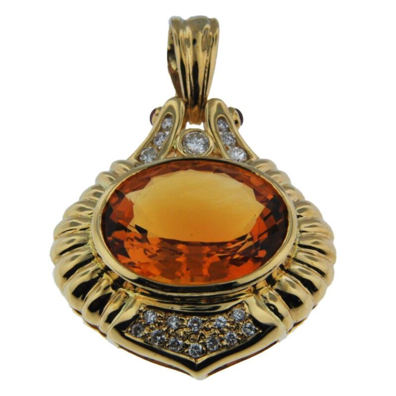 Citrine Pendant Gold Ebay