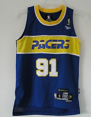 47550def45b THROWBACK~NEW~Reebok Indiana Pacers RON ARTEST HARDWOOD CLASSICS Jersey~Youths  M