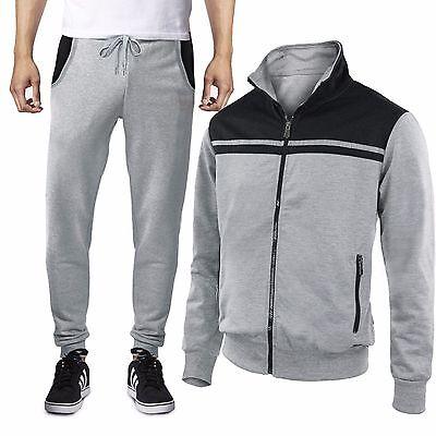 Tuta Uomo Sport Fitness Maglia con Zip Pantaloni Basic Comfort GIROGAMA 6391T