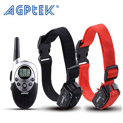 Rechargeable Electric Remote Dog Training Collar 1000Yard Shock Collar For 2 Dog