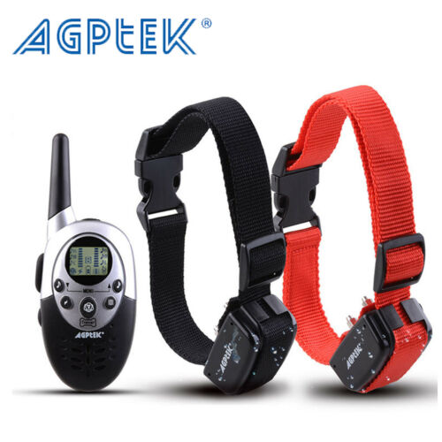 2 Dog Shock Collar With Remote Waterproof Rechargeable 1000 Yard Pet Training