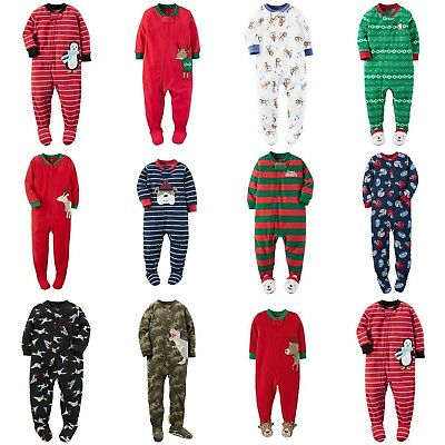 Carters NWT 6 12 18 24 Month 2T 3T 4T 5T Footed Fleece Pajama Baby Toddler BOYS](Toddler Pj)