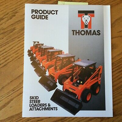 Thomas T-83103133173203233 Skid Steer Loaders Attachments Sales Brochure