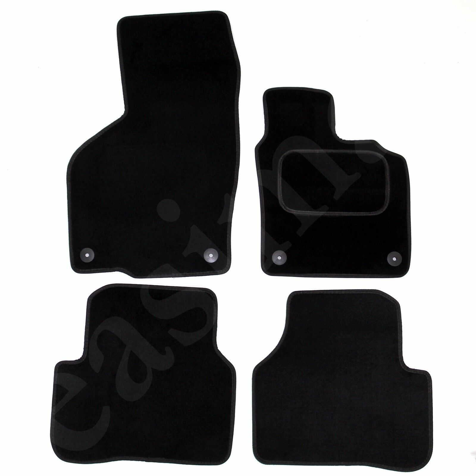 Car Parts - VW Passat B6 B7 2005-2015 Tailored Carpet Car Mats Round Clips 4pcs Floor Set