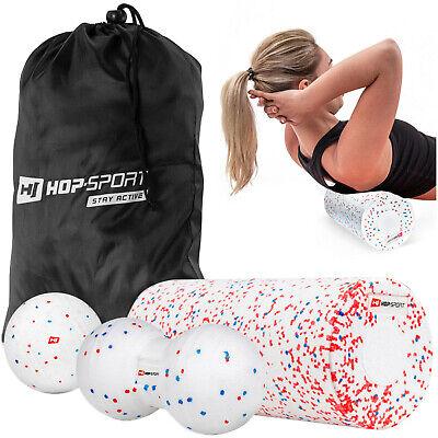 Hop-Sport Fitness-Set Massagebälle mit Faszienrolle aus EPP zur Selbstmassage