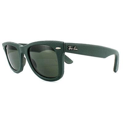 Ray-Ban Sonnenbrille Wayfarer 2140qm 1170 Grünes Leder Grün G-15 50mm
