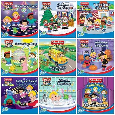 9 FISHER PRICE kids music CD LOT Halloween,Christmas Sing-Along,patriotic - Halloween Childrens Songs
