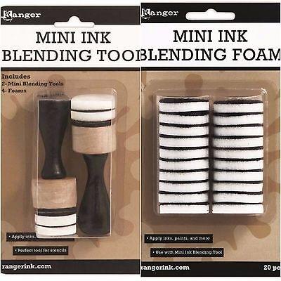 Ink Blending Tool - Tim Holtz Ranger 2 MINI INK BLENDING TOOL + 20 MINI ROUND FOAM REFILLS Bundle