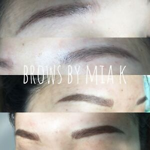 Microblading and lashes service