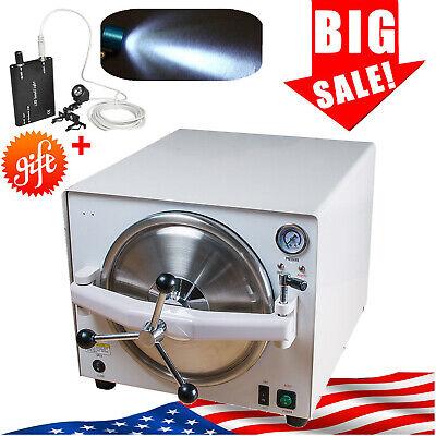 18l Dental Autoclave Sterilizer Vacuum Steam Sterilization Automatically 110v
