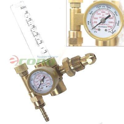 Argon Co2 Mig Tig Flow Meter Welding Weld Gas Regulator Gauge Cga580