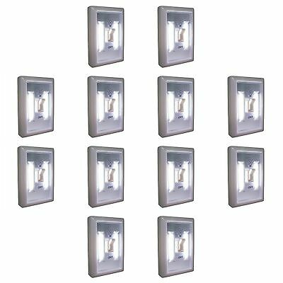 12PC PROMIER COB LED LIGHT SWITCH STOCKING STUFFER DEAL 12 WALL WIRELESS NIGHT
