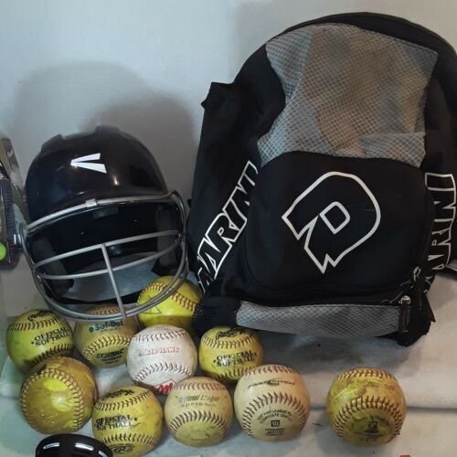 Easton Full Face Batting Helmet 6 7/8 - 7 5/8, DEMARINI BAG/ Backpack,10 Balls  - $42.89