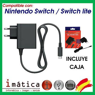 CARGADOR PARA LA CONSOLA NINTENDO SWITCH / LITE REPUESTO USB TIPO C...