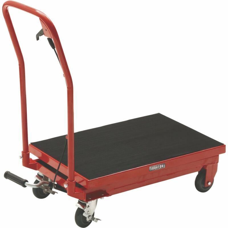 Ironton Hydraulic Table Cart- 500-Lb. Capacity