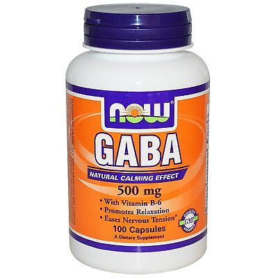 - NF11 GABA, 500 mg, 100 Capsules Now Foods Dietary Supplement Tension