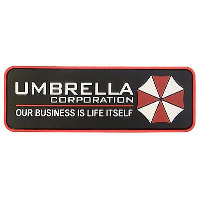 Umbrella Corporation Resident Evil Cosplay PVC rubber 3D hook patch
