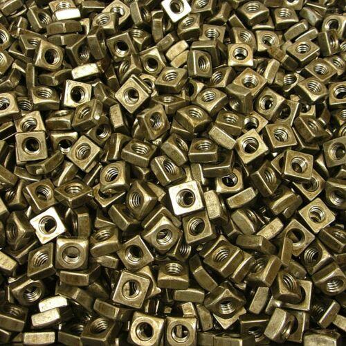 "(350) 5/16""-18 Regular Square Nut Coarse Thread Unplated Plain Finish Steel"