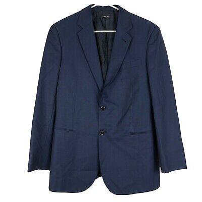 Mens Giorgio Armani Taylor Two-Button Blazer Navy Blue Jacket Size 48 Italy Wool