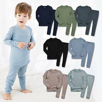 Vaenait Baby Toddler Kids Boys Modal Pjs Sleepwear Set
