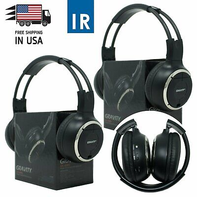 2PCS Infrared Wireless Single Channel For Car DVD MP3 IR Headphone Headset 50WH Channel Infrared Wireless Headphones