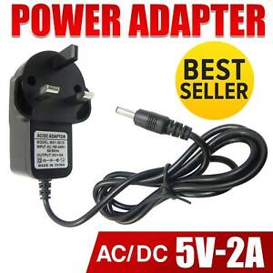 3 Pin 5V Power Adapter 2A AC-DC Switching Power Supply Adapter Plug UK Seller