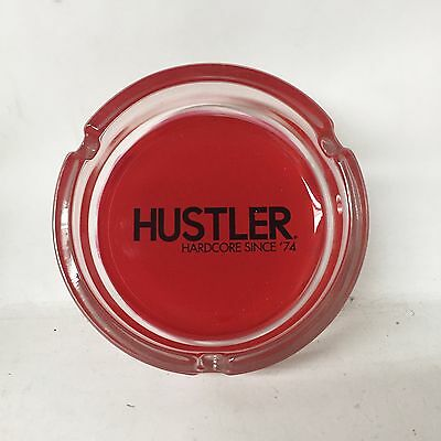 VINTAGE ASHTRAY HUSTLER HARDCORE SINCE '74 EXCELLENT CONDITION RED ASH TRAY