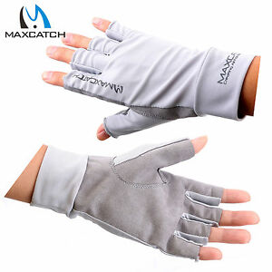 Maxcatch Fly Fishing Anti-UV Half Finger Sun gloves Sun Protection50+UPF Outdoor