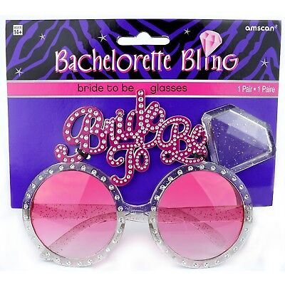 Bachlorette Bride to Be Bling Glasses Party Favor Party Supplies - Bachlorette Favors