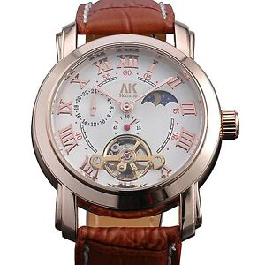 AK-Homme Roman Numbers Mens Automatic Mechanical Watch