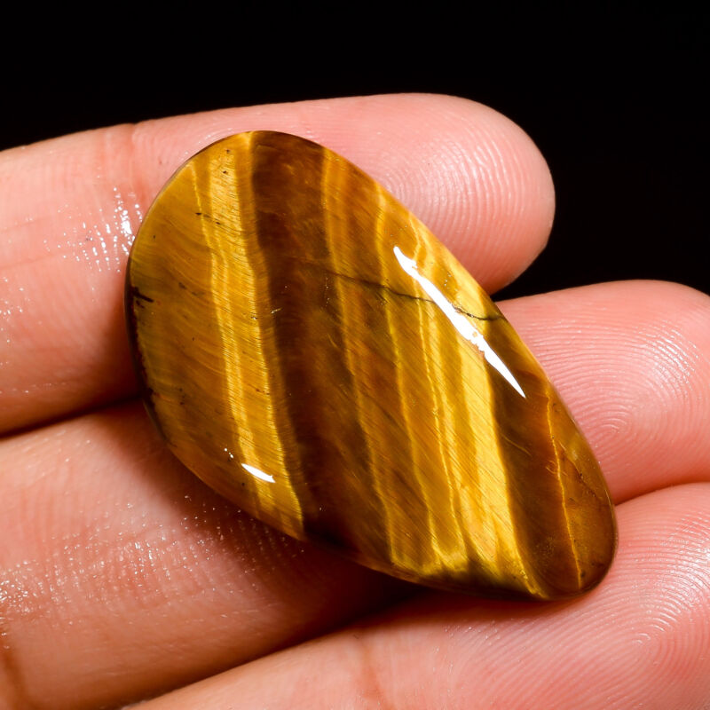 AAA+ 100% Natural Tiger Eye Fancy Shape Cabochon Loose Gemstone 22 Ct 31X17X4 mm