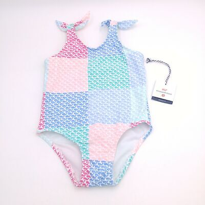 Vineyard Vines For Target Girls Toddler Swimsuit - Patchwork - Choice of Size - Toddler Swimsuits For Girls